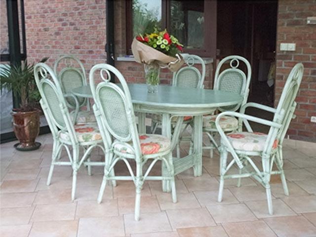 Meuble en rotin salon en rotin salle manger fauteuil en rotin belgique hainaut et france - Salon osier ...