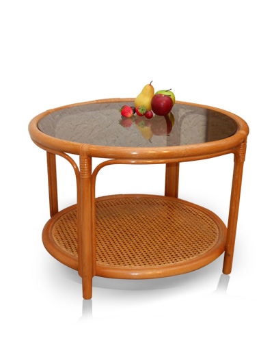 MOBILIER EN ROTIN | Salons : table de salon - cannage -