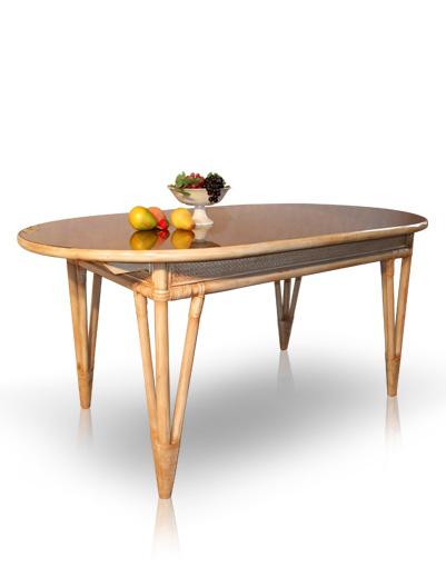 Mobilier en rotin salles manger table classiqua for Table a manger rotin