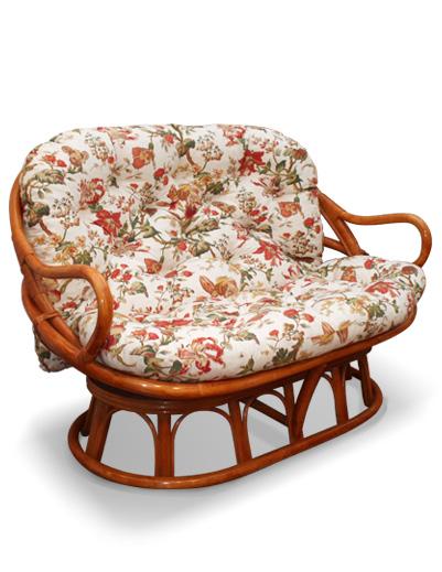 MOBILIER EN ROTIN | Salons | canapé   associé au fauteuil tournant