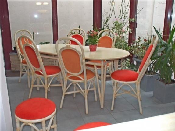 En hainaut en belgique fauteuil tournant en rotin canap 2 for Table salle a manger en rotin